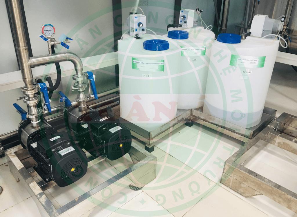 Hình ảnh hệ thống xử lý nước dược phẩm 2m3
