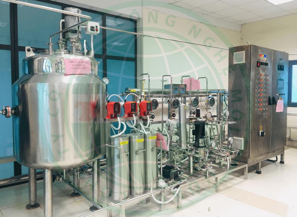Hình hệ thống xử lý nước dược phẩm công suất 2m3