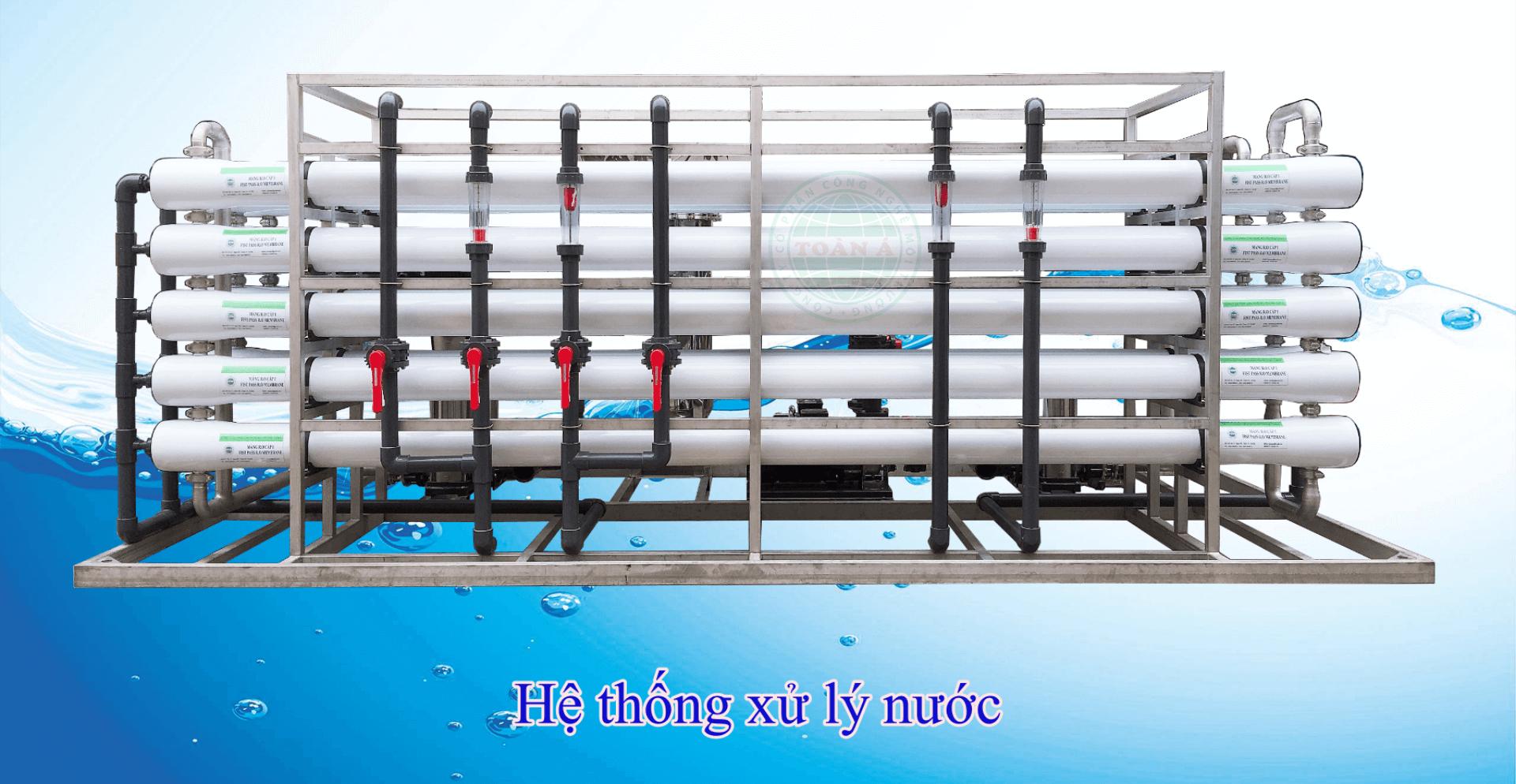 Xử lý nước tinh khiết công nghệ RO của công ty Toàn Á