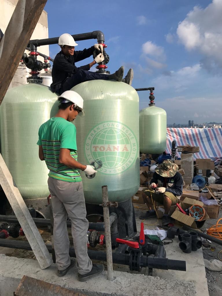 Lắp đặt hệ thống xử lý nước cho dự án Green Hòa bình Đà Nẵng