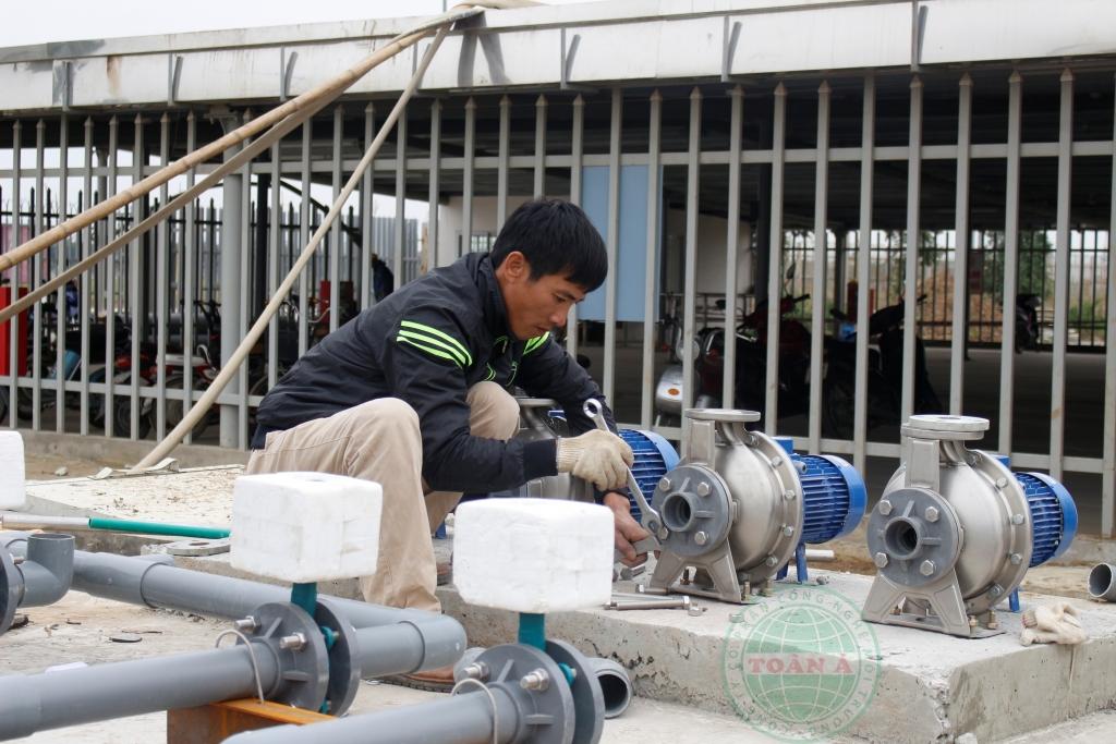 Hệ thống xử lý nước thải CTY MCNEX Ninh Bình