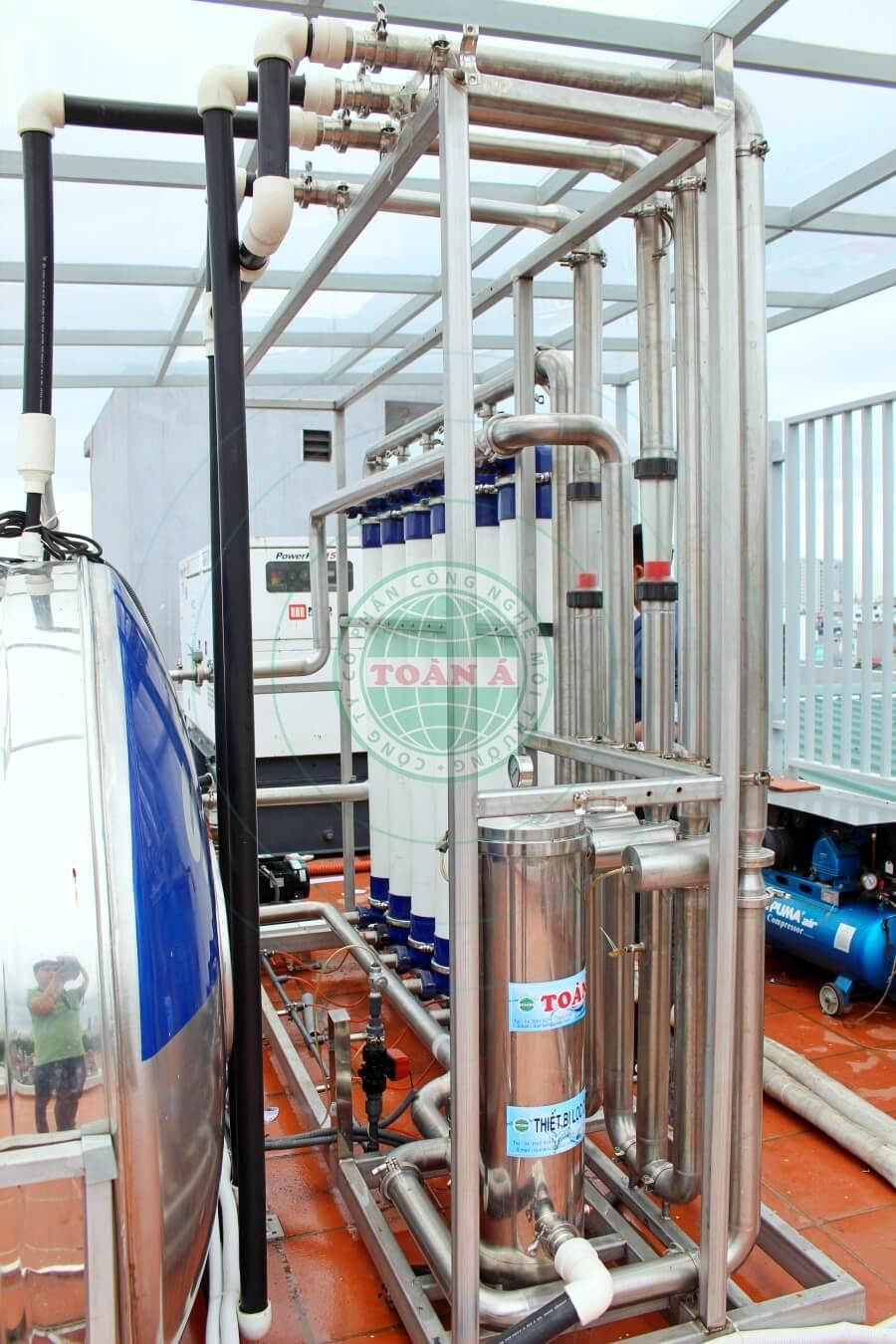 Hệ thống lọc tổng UF 8-10m3/h- Đào tấn