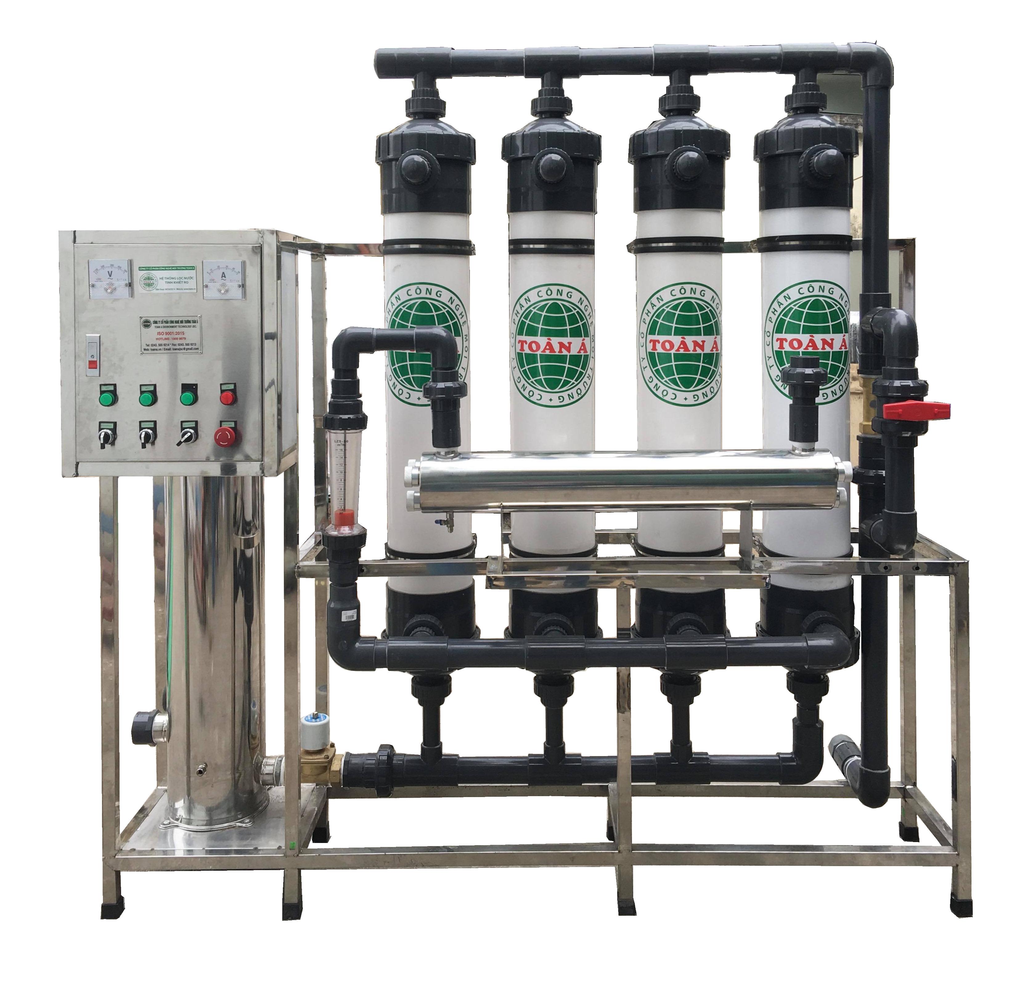 Hệ thống xử lý nước cấp công nghệ Màng Siêu Lọc UF 8m3/h