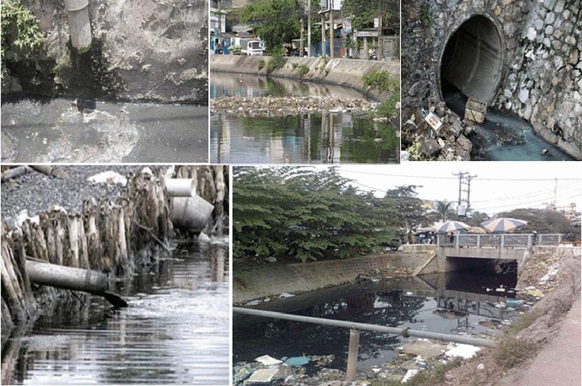 Nước thải sinh hoạt gây ô nhiễm môi trường nghiêm trọng