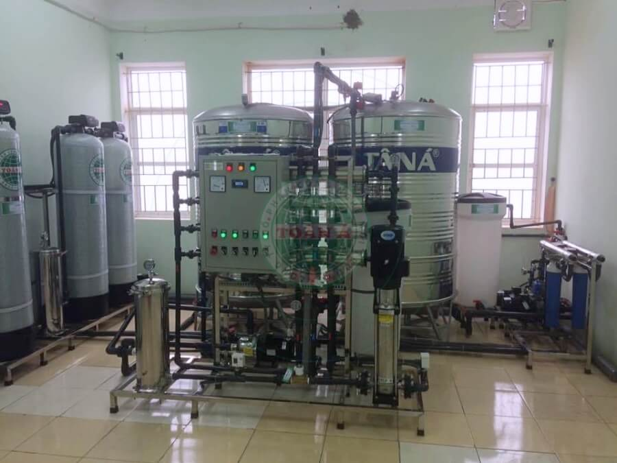 Hệ thống xử lý nước Ro 1500l Bệnh viện huyện tiên lữ