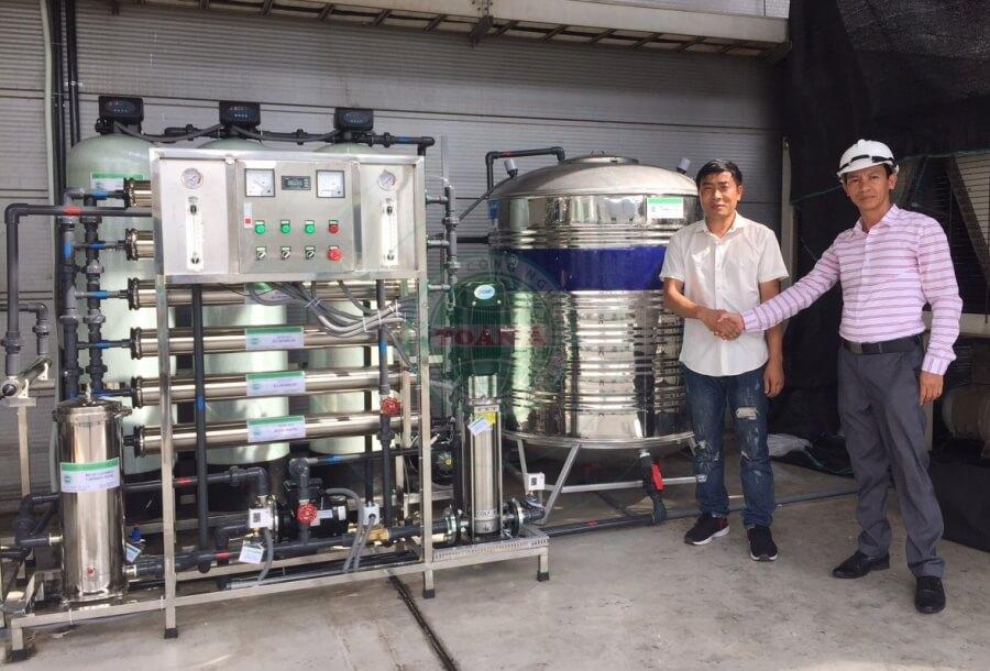 Hệ thống xử lý nước RO cho thực phẩm 1500L