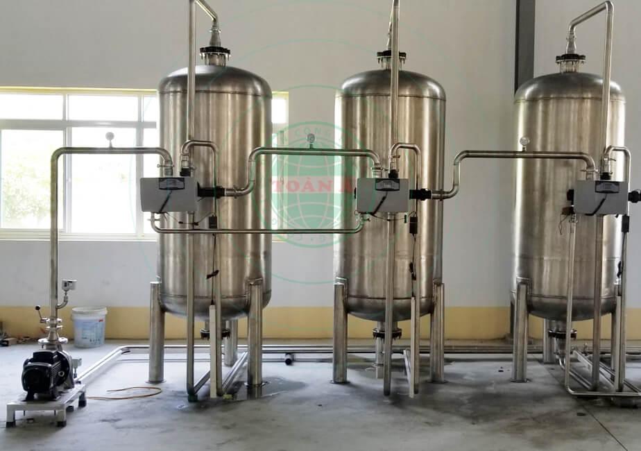 Xử lý nước khoáng Công ty hồng mai 12m3/h