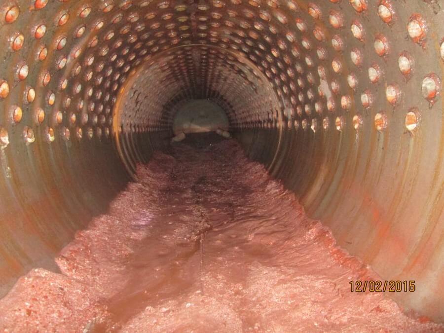 Đường ống bám cặn