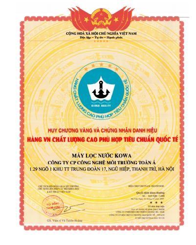 Giấy chứng nhận hàng Việt Nam chất lượng cao