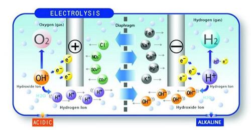 Nguyên lý điện phân của máy lọc nước ion kiềm