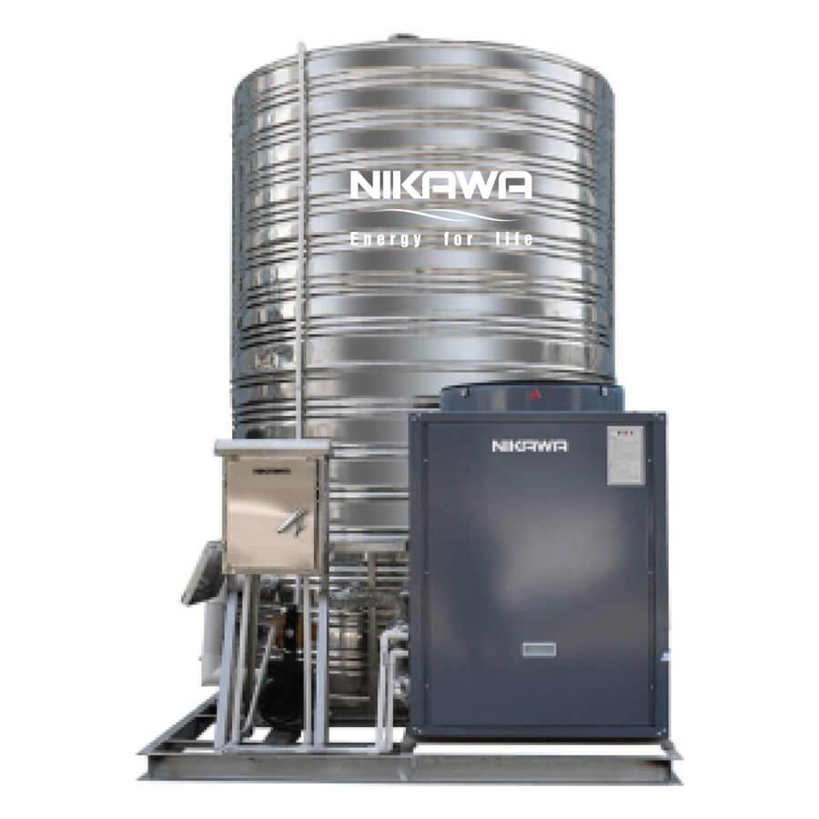 Máy cấp nước nóng trung tâm Nikawa có thiết kế nhỏ gọn
