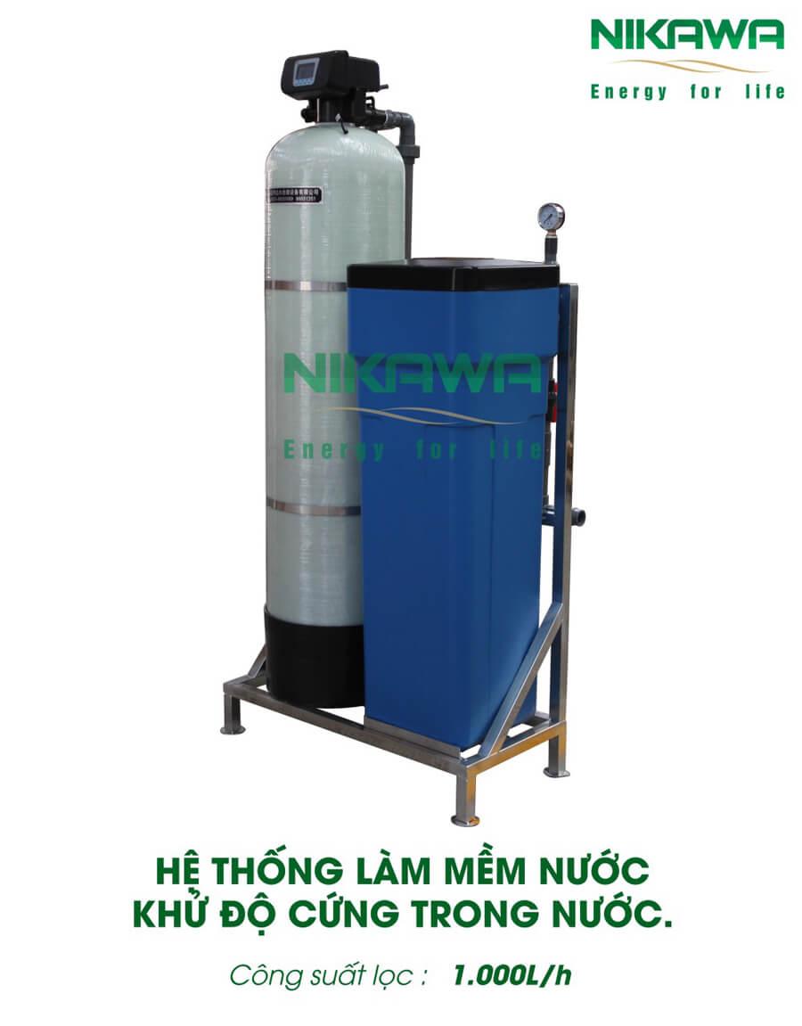 Hệ thống làm mềm nước Nikawa 1000L/h