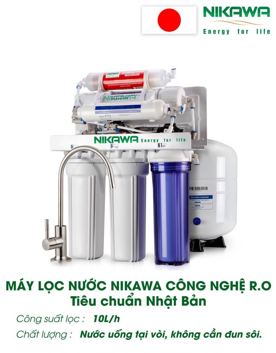 May Loc Nuoc Ro Nikawa 10lh