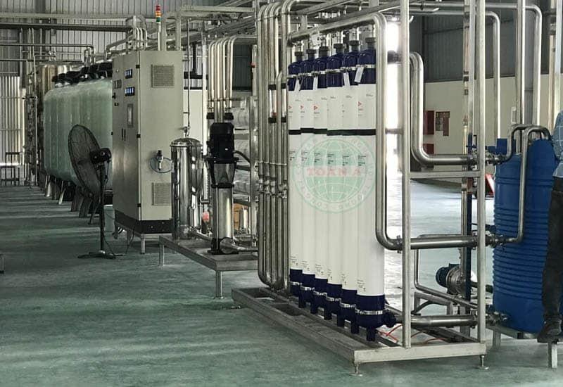 hệ thống lọc ro sản xuất nước đóng chai