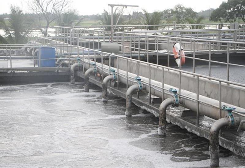 hồ chứa nước thải y tế