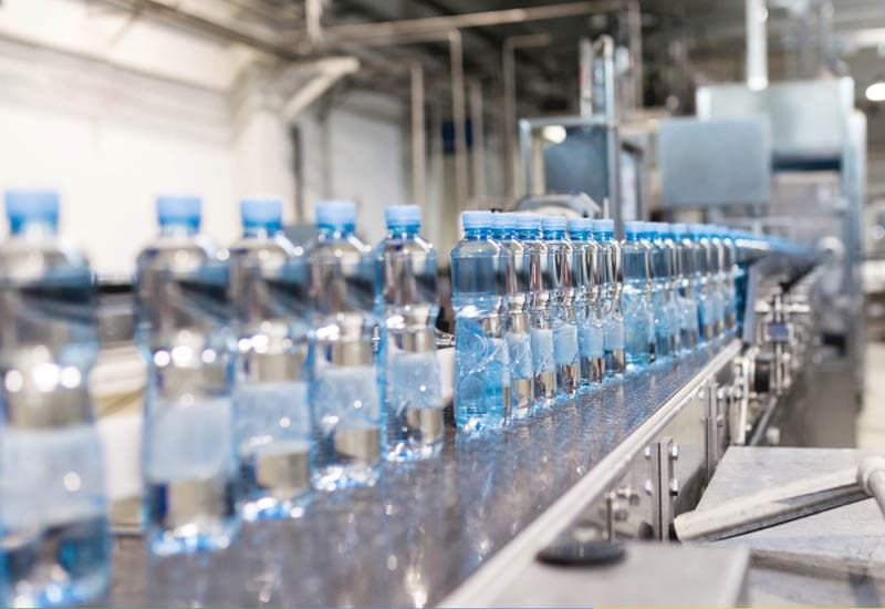 quy trình sản xuất nước đóng chai