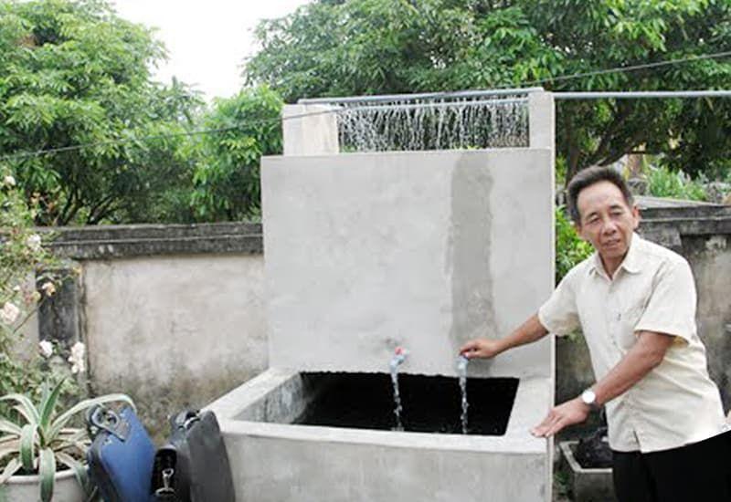 quy trình xây bể lọc nước sinh hoạt