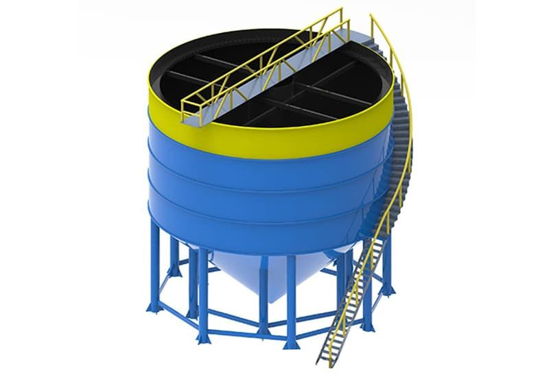 bể lắng đứng dùng trong lọc nước giếng