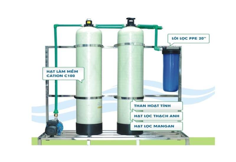 Cấu tạo của máy lọc nước tổng căn hộ