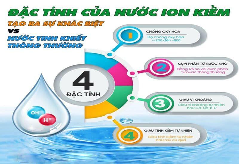 đặc tính của nước ion kiềm