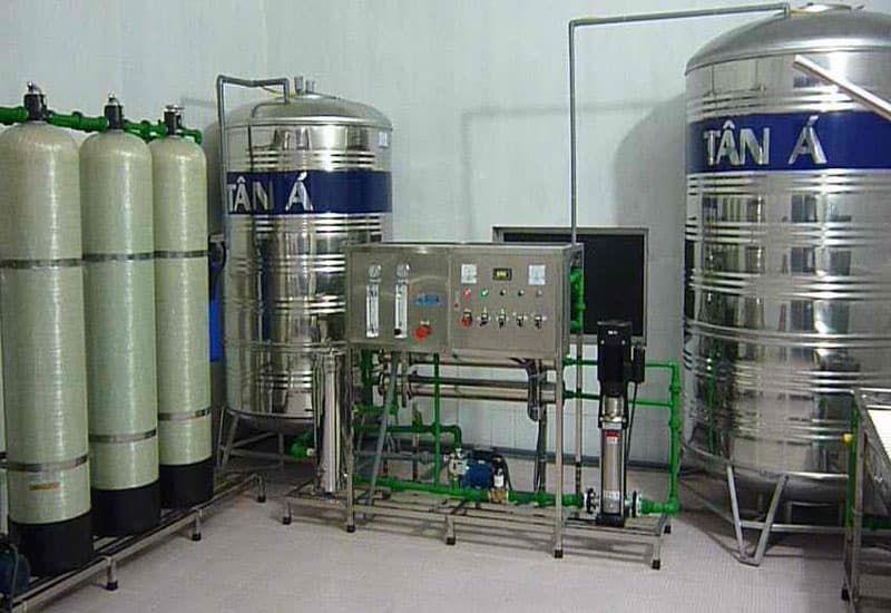 Quy trình của hệ thống lọc nước đóng chai