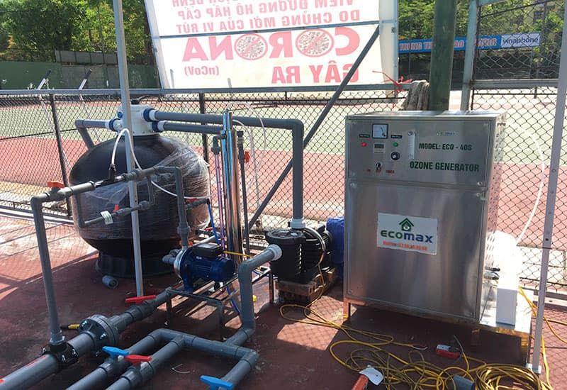 Sử dụng máy sản xuất Ozone trong xử lý nước bể bơi