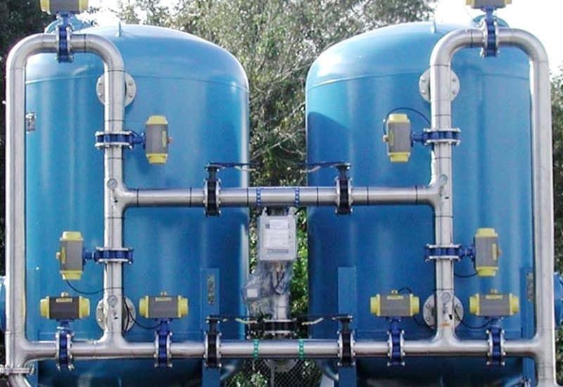 bể lọc áp lực trong xử lý nước thải